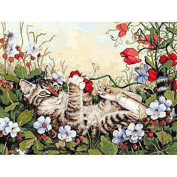 Набор для творчества Белоснежка картина по номерам на холсте Кошкины забавы 30 на 40 см