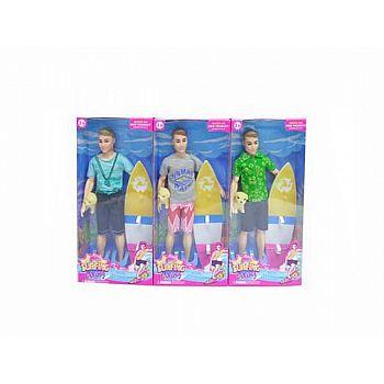"""Кукла """"Сёрфер"""" с аксессуарами, 15х5х33 см"""
