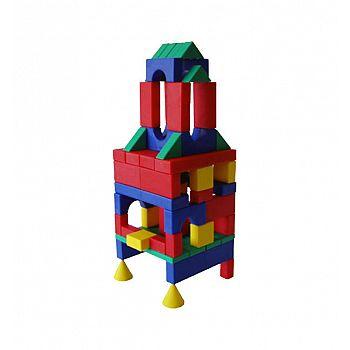 Набор строительный №1 (Классический) Большой 68 деталей 20х8х20 см.