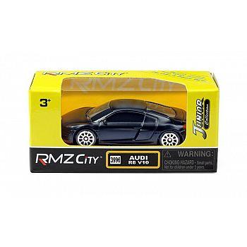 Машинка металлическая Uni-Fortune RMZ City 1:64 Audi R8 V10, без механизмов, черный матовый цвет