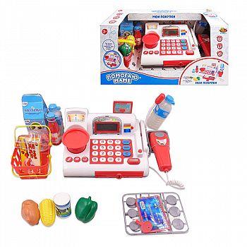 """Касса """"Помогаю Маме"""", в наборе с продуктами и аксессуарами (41 предмет), на батарейках, с эффектами"""
