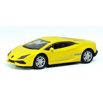 Машинка металлическая Uni-Fortune RMZ City 1:64 LAMBORGHINI HURACAN LP610-4, Цвет Жёлтый