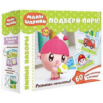 Развивающая игра Издательский дом Лев Логика для малышей Малышарики. Подбери пару Развивающий набор.