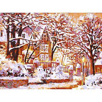 Набор для творчества Белоснежка картина по номерам на холсте Зимняя сказка 30 на 40 см