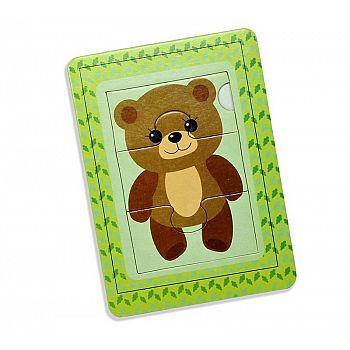 Пазл в рамке Медвежонок 3 эл (14,5*10,5 см) (Мин.отгрузка от 10 шт)