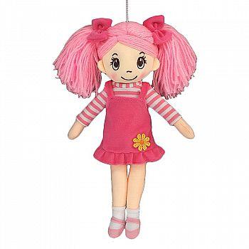 Кукла ABtoys Мягкое сердце, мягконабивная в розовом сарафане, 30 см