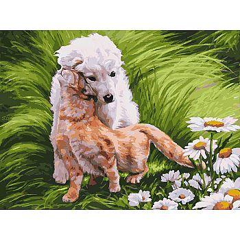 Набор для творчества Белоснежка картина по номерам на холсте Обожание 30 на 40 см