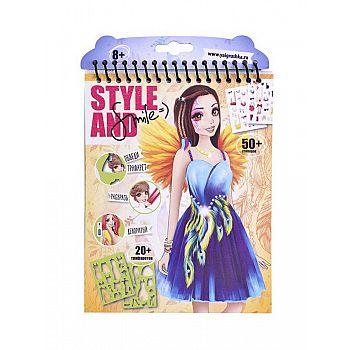 Набор для творчества ЯиГрушка Style&Smile блокнот малый «Девочка-птица» 16*20 см