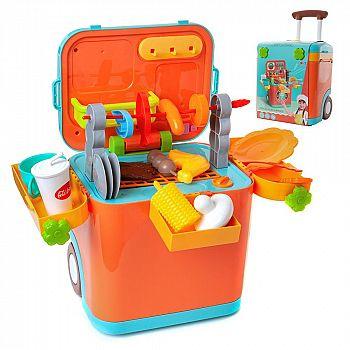 """Набор игровой в чемодане с выдвижной ручкой """"Юный шеф-повар"""", световые и звуковые эффекты"""