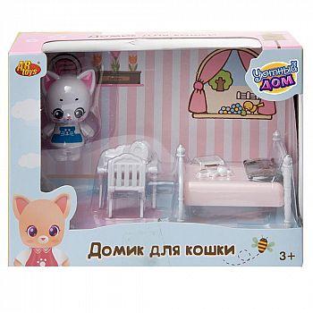Игровой набор ABtoys Уютный дом Домик для кошки малый. Спальня