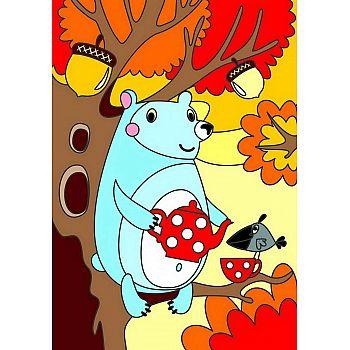 Набор для творчества LORI Картина по номерам для малышей Дружелюбный мишка