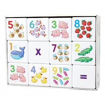 Кубики для умников. Арифметика 12 шт (без обклейки)