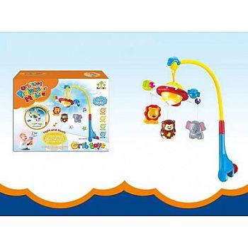 """Игрушка для малышей. Мобиль """"Веселые животные"""" звуковые и световые эффекты 39,5х31,5х12,5 см"""