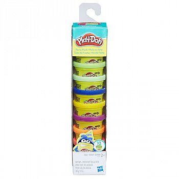 Набор для творчества Hasbro Play-Doh для лепки Комплект для вечеринок 10 цветов