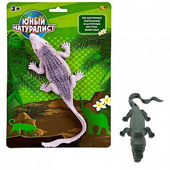 Фигурка ABtoys Юный натуралист Крокодил, термопластичная резина