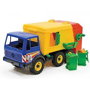 Машинка ЛЕНА Мусоровоз 3-х осный разноцветный 45см