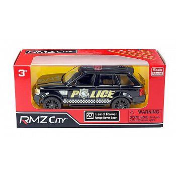 Машинка металлическая Uni-Fortune RMZ City 1:36 Land Rover Range Rover Sport, полицейская машина, инерционная