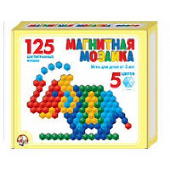 Мозаика магнитная шестигранная 125 фишек / 5 цветов