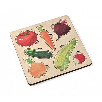 Игра развивающая деревянная Овощи (21х21см)