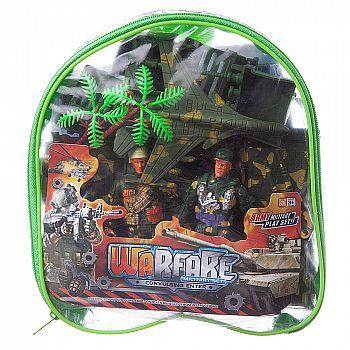 Набор игровой военный Junfa Солдатики, военная техника, акссесуары, в сумке