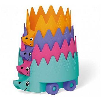 Развивающая игрушка STELLAR Пирамидка Ежики