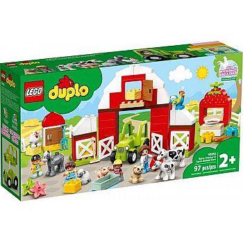 Конструктор LEGO DUPLO Town Фермерский трактор, домик и животные