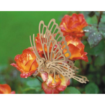 Сборная деревянная модель Чудо-Дерево Насекомые Бабочка (3 пластины)