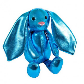 Металлик. Кролик синий, 16 см. игрушка мягкая