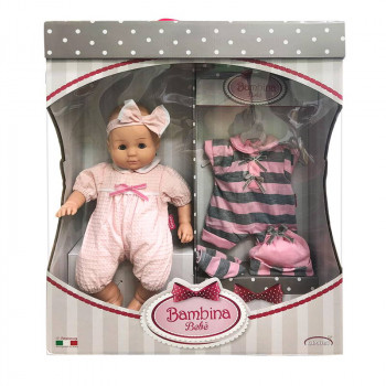 Кукла DIMIAN Bambina Bebe Пупс мягконабивной 36 см