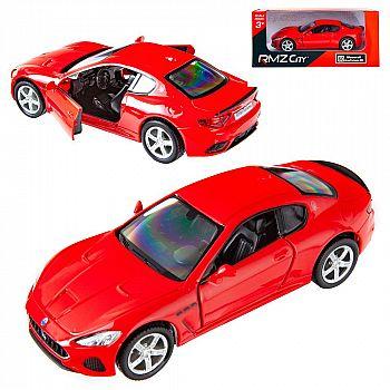 Машинка металлическая Uni-Fortune RMZ City 1:32 Maserati GranTurismo MC 2018 (цвет красный)