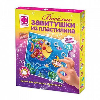 Набор для творчества Фантазер Веселые завитушки из пластилина №3