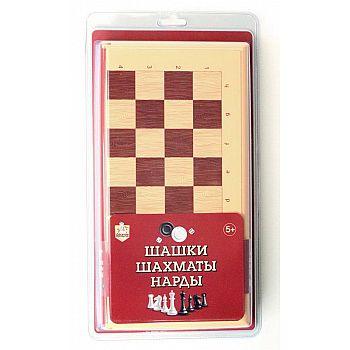 Настольная игра Десятое королевство Шашки-Шахматы-Нарды большие