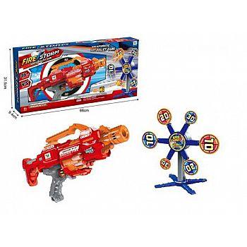 Набор игровой Автомат, стреляющий мягкими снарядами, 6 мишенями, 20 снарядами