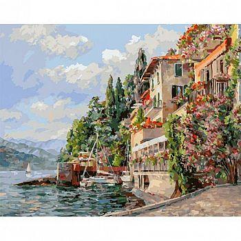 Набор для творчества Белоснежка картина по номерам на холсте Лето в Италии 40 на 50 см
