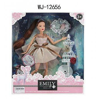 Кукла ABtoys Emily Розовая серия с маникеном и аксессуарами, 30см
