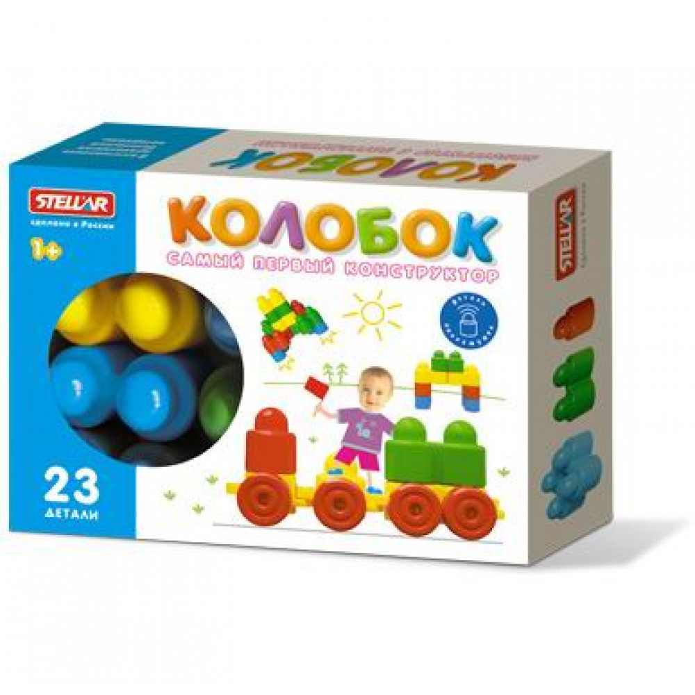 Конструктор Колобок (23 деталей), коробка