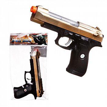 Пистолет двухцветный, со световыми и звуковыми эффектами