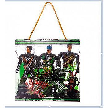Набор игровой военный Junfa Три солдата, в прозрачной коробке