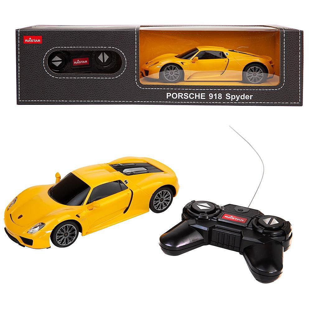 Машина р/у 1:24 PORSCHE 918 Spyder Цвет Желтый 40MHZ