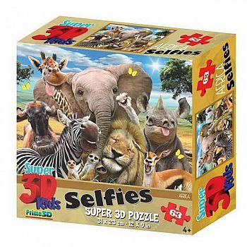 Пазл Prime 3D 63 Африка селфи