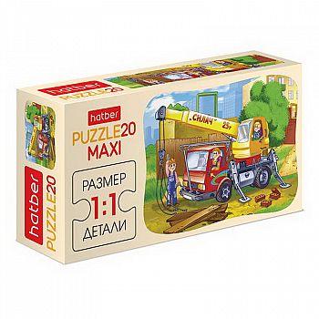 Пазл MAXI Hatber Автокран Силач 20 элементов А5ф 230Х165мм