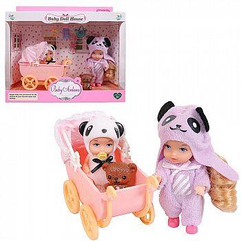 Игровой набор Baby Ardana Дома у сестренок (в спальне с коляской), с аксессуарами