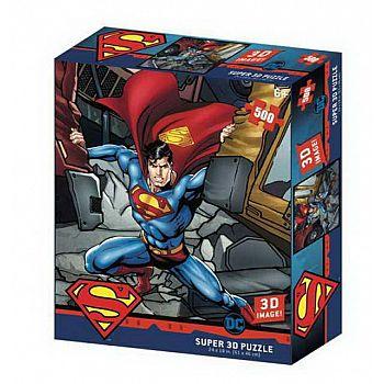 Пазл Prime 3D Сила Супермена 500 элементов