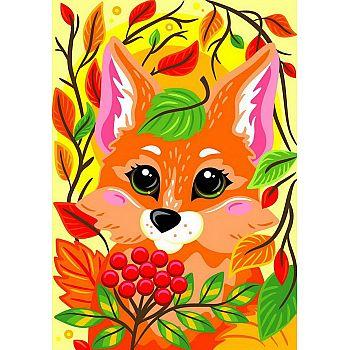 Набор для творчества LORI Картина по номерам для малышей Осенняя лисичка