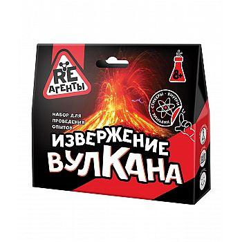 Набор для опытов Re-Агенты Извержение вулкана, красный