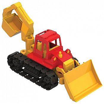 """Трактор """"Байкал"""" с грейдером и ковшом 16х16х40 см"""