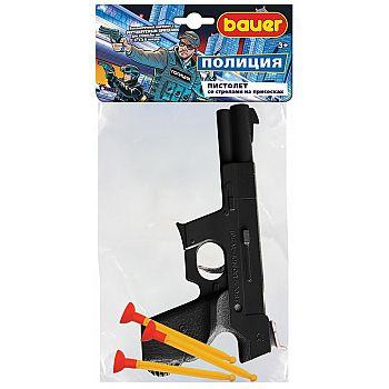 Игровой набор Bauer Полицейский пистолет большой со стрелами на присосках