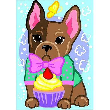 Набор для творчества LORI Картина по номерам для малышей Модный щеночек