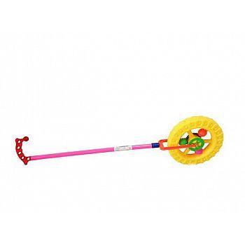 Игрушка для малышей. Каталка Колесо, 15x62x5см