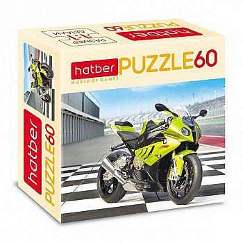 Пазл Hatber Мотоцикл 60 элементов А5ф 230Х165мм